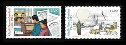 Greenland 2019 Mih. 813/14 Greenland During World War II (IV). Radio. Newspapers. Fauna. Dogs MNH ** - Neufs