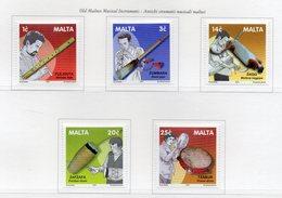 Malta - 2001 - Antichi Strumenti Musicali Maltesi - 5 Valori - Nuovi - Vedi Foto - (FDC13900) - Malte