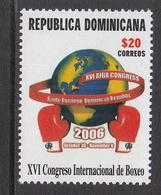 2006 Dominican Republic Dominicana  Boxing Complete Set Of 1  MNH - Dominicaine (République)