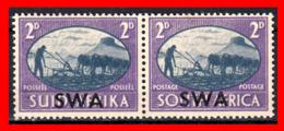 AFRICA SOUTH AFRICA / RSA PEACE AÑO 1945 PAREJA NUEVOS - África Del Sur (1961-...)