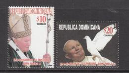 2006 Dominican Republic Dominicana  Pope John Paul II Complete Set Of 2  MNH - Dominicaine (République)