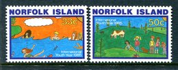Norfolk Island 1985 International Youth Year Set MNH (SG 369-370) - Norfolk Island