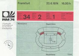 Ticket FIFA 1974 World Cup Championship Yugoslavia Vs Scotland  Munich 74 WM WC National Team - Tickets D'entrée