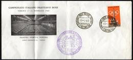 BOXING - ITALIA TORINO 1960 - CAMPIONATO ITALIANO DILETTANTI BOXE LIBERTAS - BUSTA UFFICIALE PIEGATA IN DUE PUNTI - Scherma