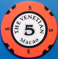 HK$5 Casino Chip. Casino Venetian, Macau. N39. - Casino