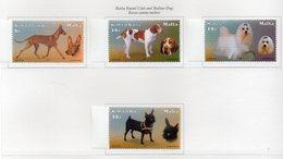 Malta - 2001 - Razze Canine Maltesi - 4 Valori - Nuovi - Con Bordo Di Foglio - Vedi Foto - (FDC13902) - Malte