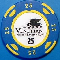 HK$25 Casino Chip. Casino Venetian, Macau. N39. - Casino