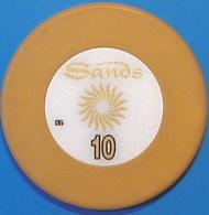 HK$10 Casino Chip. Sands, Macau. N39. - Casino