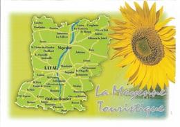 Cartes Géographiques - 53 - La Mayenne - La Mayenne Touristique - Cpm - Vierge - - Cartes Géographiques
