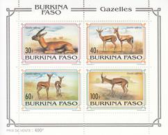 1993 Burkina Faso Gazelles Mammals Game Miniature Sheet Of 4 MNH - Burkina Faso (1984-...)