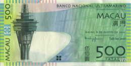 Macau (BNU) 500 Patacas (P83) 2010 -UNC - - Macao