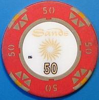 HK$50 Casino Chip. Sands, Macau. N39. - Casino