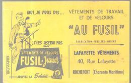 Buvard AU FUSIL LAFAYETTE VETEMENTS 40, Rue Lafayette à Rochefort (Charente Maritime) - Textile & Vestimentaire