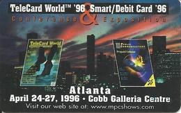 USA: MultiMedia Publishing - TeleCard World '96 Exposition Atlanta. - Vereinigte Staaten