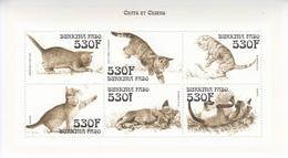 1996 Burkina Faso Domestic Cats Chats Miniature Sheet Of 6 MNH - Burkina Faso (1984-...)