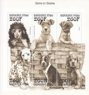 1996 Burkina Faso Domestic Dogs Chiens Miniature Sheet Of 6 MNH - Burkina Faso (1984-...)