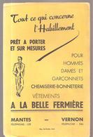 Buvard VETEMENTS A LA BELLE FERMIERE à Mantes Et à Vernon Tout Ce Qui Concerne L'Habillement - Textile & Clothing