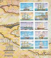 1999 Burkina Faso Ships Bateau Set Of 3  Miniature Sheets MNH - Burkina Faso (1984-...)