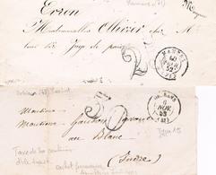 2 Lettres Mamers Et Orléans - Marcophilie (Lettres)
