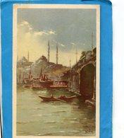 TURQUIE-STANBOUL-lmosquée Yent Djami -illustrée  KUDNI - A Voyagé En 1936  édition  Traldi - Turquie