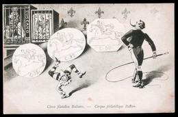 RARISSIMA CARTOLINA FINE 800 RIPRODUCENTE FRANCOBOLLI ANTICHI STATI N°1 - PRECURSORI - Stamps (pictures)