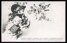 RARISSIMA CARTOLINA FINE 800 RIPRODUCENTE FRANCOBOLLI ANTICHI STATI N°2 - PRECURSORI - Francobolli (rappresentazioni)