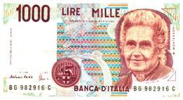 Billets >  Italie >  1000 Lire 1990 - [ 2] 1946-… : République