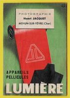 Pochette Photos LUMIERE - Photographie Henri JACQUET 18 MEHUN-sur-YEVRE Cher * Photo - Non Classés