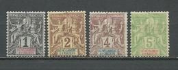 SENEGAMBIE Scott 1*, 2*, 3*, 4* Yvert 1*, 2*, 3*, 4* (4) * 16,00 $ 1894 - Neufs