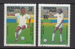 1992 Burkina Faso World Cup Football Complete Set Of 2  MNH - Burkina Faso (1984-...)