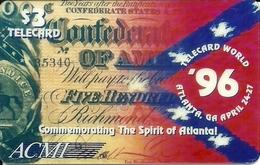 USA: ACMI  - TeleCard World '96 Exposition Atlanta - Vereinigte Staaten