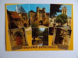 24 Dordogne Périgord EXCIDEUIL & CHÂTEAU Lot De 2 Cartes Postales - France