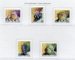 Malta - 2002 - Cactus E Piante Grasse - 5 Valori - Nuovi - Vedi Foto - (FDC13909) - Malte
