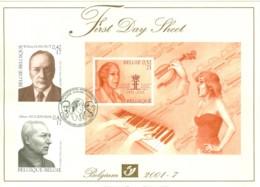 Belg. FDS 2001-7 OBP/COB 2990/92 Muziek En Literatuur / Musique Et Littérature - 2001-10