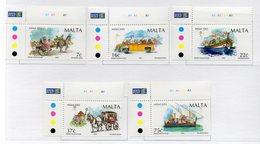 Malta - 2002 - Natale - 5 Valori - Nuovi - Con Bordo Di Foglio Angolare - Vedi Foto - (FDC13910) - Malte