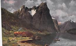 NORGE Norvège Norway - Nordfjord - CPA Colorisée ( Illustration )  Norwegen Noorwegen Norvegia Noruega - Norvège