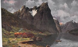 NORGE Norvège Norway - Nordfjord - CPA Colorisée ( Illustration )  Norwegen Noorwegen Norvegia Noruega - Noruega