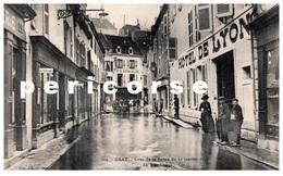 70  Gray  Crue De La Saône Du 21 Janvier 1910  Hôtel De Lyon  Rue Thiers - Gray