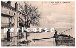 70  Gray  Crue De La Saône Du 21 Janvier 1910  Le Quai Vergy - Gray