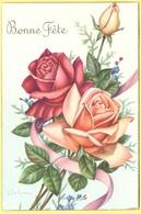 Tematica - Fiori - Rose - Mazzo Di Rose - Bonne Fête - Wrote But Not Sent - Flores
