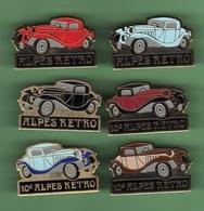AUTOMOBILE *** ALPES RETRO *** Lot De 6 Pin's Differents *** 0102 - Badges