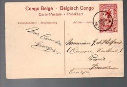CONGO - ENTIER STIBBE 43 - VUE 8 - DIMA 1913 (10C Rajouté COTE Vue) - PL8 - Ganzsachen