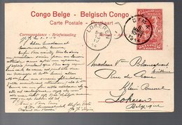 CONGO - ENTIER STIBBE 43 - VUE 57 - DIMA - LOKEREN - 1914 - PL8 - Ganzsachen
