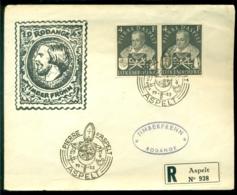Luxembourg 1953 Lettre Récommandée  (27-9-1953) Pierre D'Aspelt Mi 516 (2) - Luxemburg