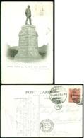 Rhodesia 1911 Postcard Rhodes Statue And Bulawayo Club - Zimbabwe