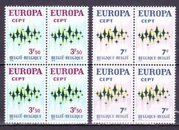 1972 Nr 1623-24** Zonder Scharnier,blokjes Van 4. Europa. - Belgique