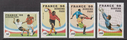 1996 Burkina Faso World Cup Football  Complete Set Of 4  MNH - Burkina Faso (1984-...)