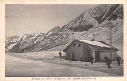 "07624 ""TONALE - CASERMA DEI REALI CARABINIERI - 226A BATTERIA ASSEDIO - ZONA DI GUERRA"" CART. ORIG. SPED. 1918 - Italia"