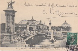 CPA Paris - Pont Alexandre Et Le Grand Palais - 1907 (38915) - Ponts