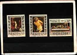 90430) PARAGUAY-1967 QUADRI -DI G. RENI,TINTORETTO,LEONARDO-POSTA AEREA-MNH** SERIE COMPLETA N. 459-61 - Paraguay